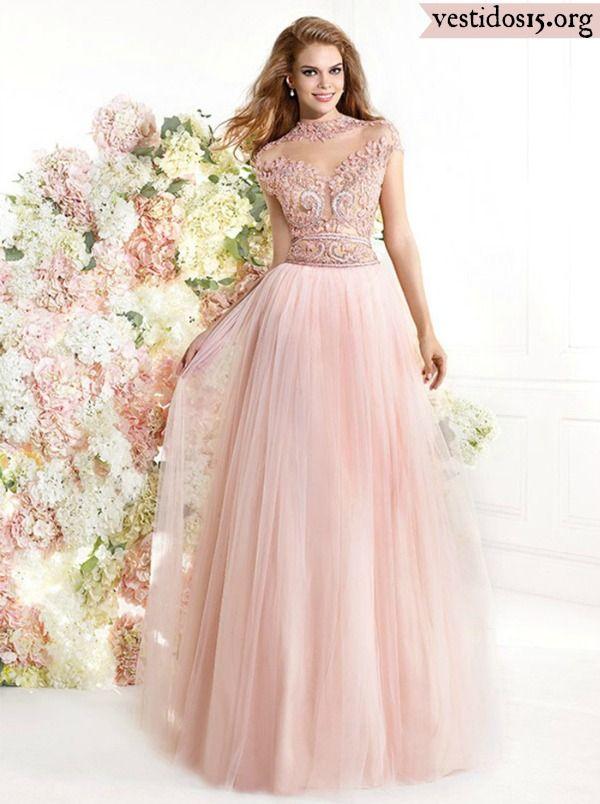 Vestido quinceañera rosa